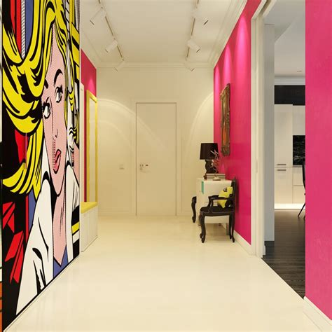 modern pop art style apartment modern pop art style apartment