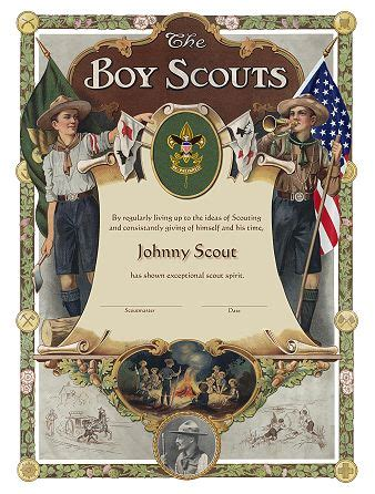 boy scout certificate templates scout eagle scoutmaster hornaday powder horn vla