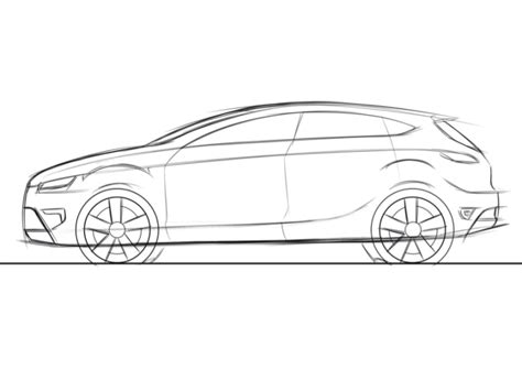 Car Design Sketches Side View Pixshark Com Images