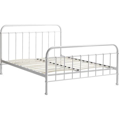 white metal queen bed frame monaco queen size modern metal bed frame in white buy