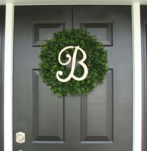 Boxwood Wreath Monogram Wreath And Monogram Boxwood Wreath Monogram Wreath Outdoor Decor Fall