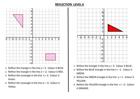 printable math worksheets reflections reflection worksheets maths middle school pinterest