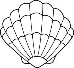 shell coloring pages seashell lineart free clip