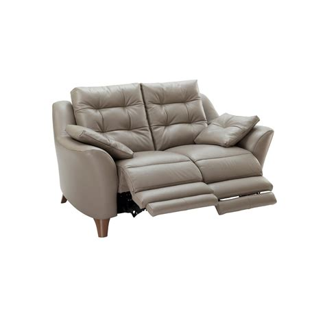 g plan recliner sofas g plan pip 2 seater electric recliner sofa in leather at