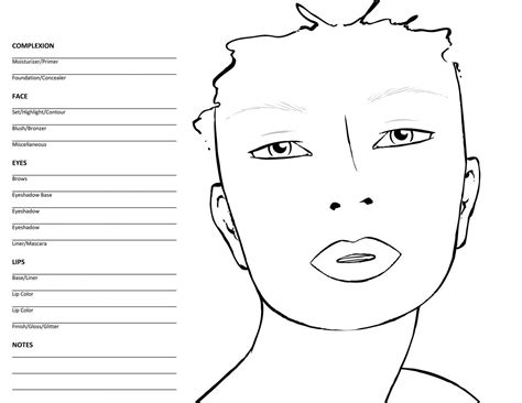 makeup template templates makeup scoop