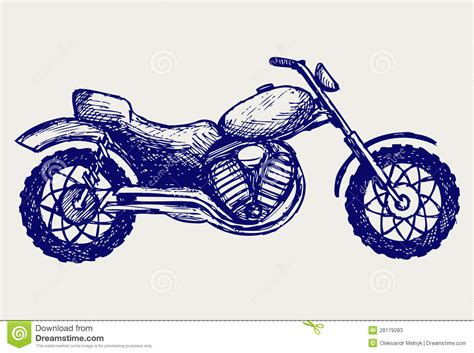 doodle motorcycle classic motorcycle stock photos image 28179283