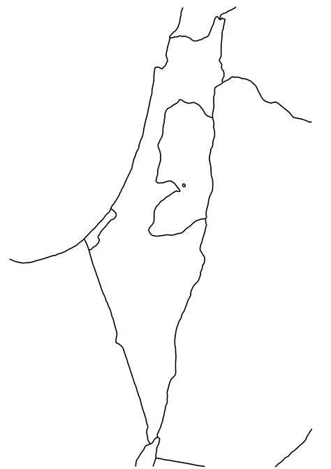 Free Outline Map Of Israel israel blank map