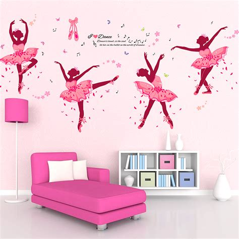 wall art for girl bedroom diy wall decor ballet girls art wall stickers for kids