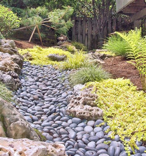 backyard dry creek bed 93 best images about swale on pinterest raised beds