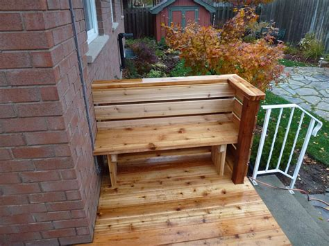 deck with built in bench cedar deck with built in bench cutting edge construction