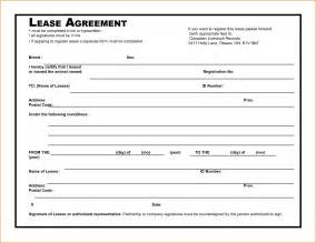 free rental agreement template 8 simple rental agreement template printable receipt