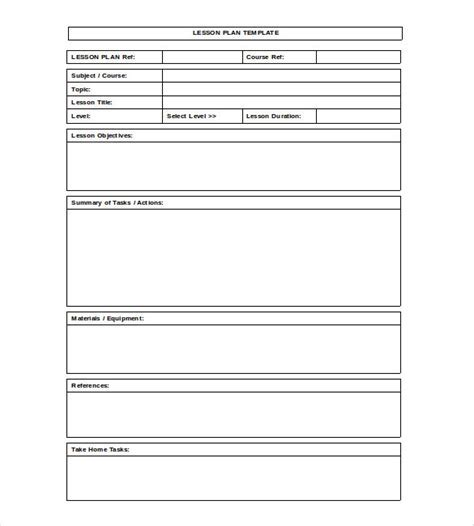 Lesson Plan Outline Template Lesson Plan Template Best Word - Blank lesson plan template for preschool