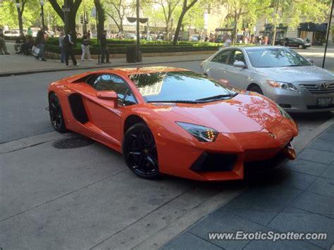 Lamborghini Chicago Lamborghini Aventador Spotted In Chicago Illinois On 05
