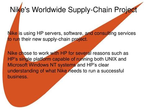 Worldwide Plumbing Supply by Ppt Supply Chains A Look At Nike Powerpoint
