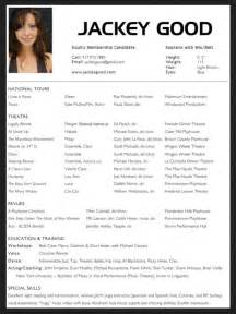 theatre resume template word acting resume format free resume sle