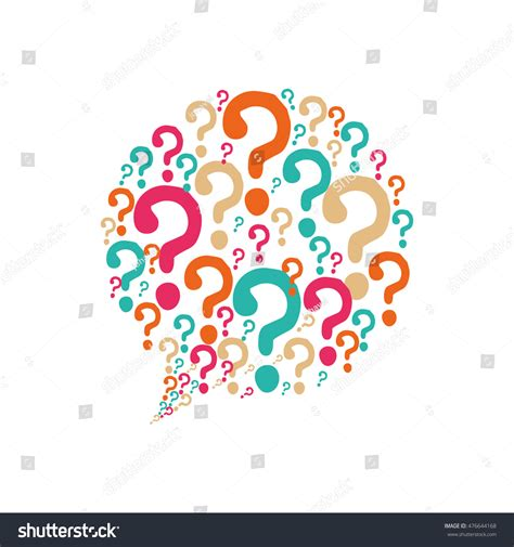 illustrator draw question mark question mark bubble ask symbol problem stock vector