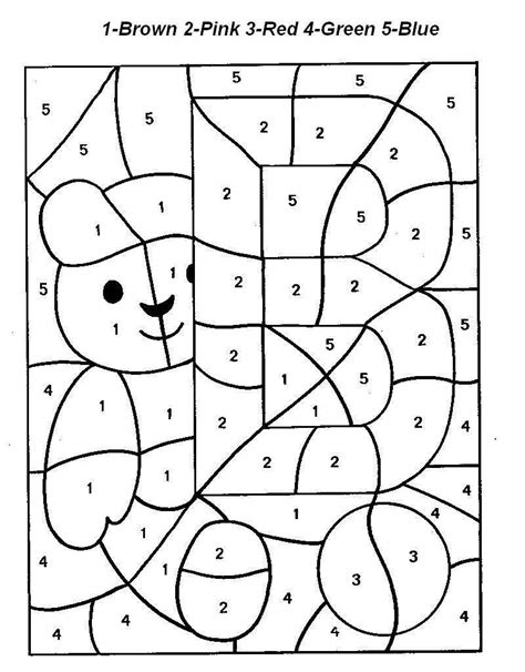 Letter In Number letter o color by numbers worksheet for kindergarten