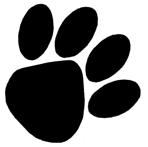 Large Paw Print Clip by Paw Print Clip Black And White Cliparts Co