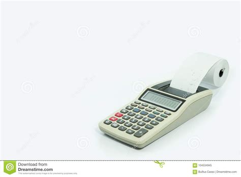 calculator x8 download calculator with printed receipt on isolated white stock