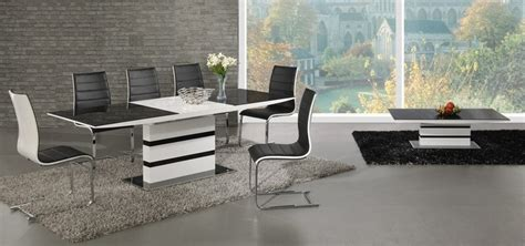 White High Gloss Dining Table 6 Chairs by White High Gloss Black Glass Extending Dining Table And 6