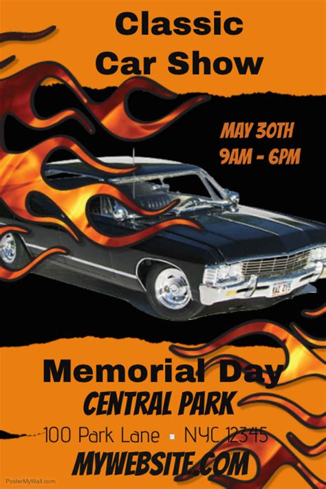 Poster Classic Car 1 classic car show template postermywall