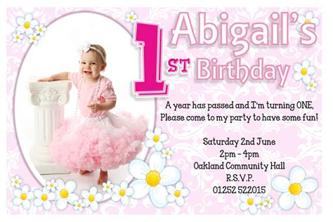 baby birthday card template 1st birthday invitations free template 1st birthday