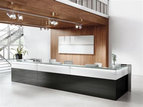 built in reception desk modular office reception desk with built in lights by