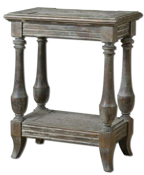 Side Table by Gorgeous Distressed Solid Wood Side Accent Table Weathered