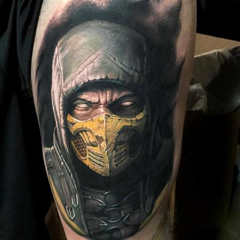 mortal kombat tattoos powerline tattoos evan olin scorpion from