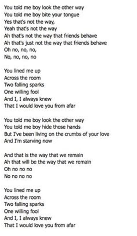 Printable Riptide Lyrics | sometimes when you re writing a song and that by vance joy