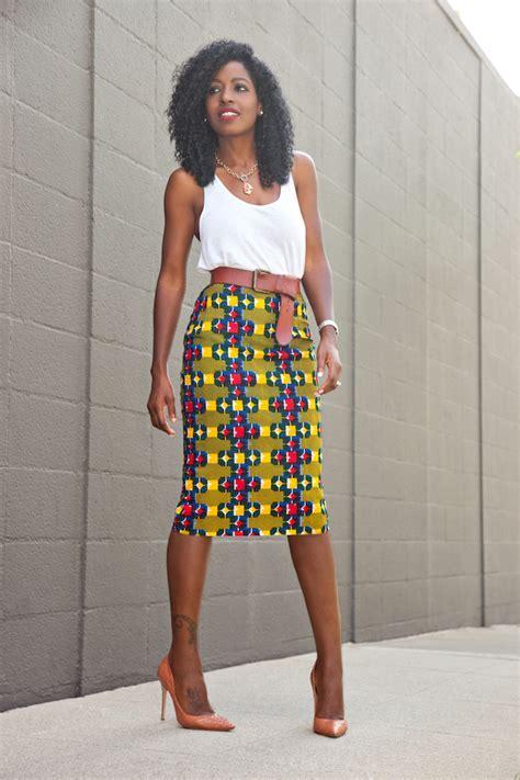 style pantry tank top ankara print pencil skirt