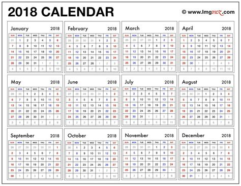 Printable Calendar 2018 Microsoft Office | microsoft office calendar template 2018 templates station