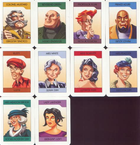 printable board game characters original clue characters new calendar template site