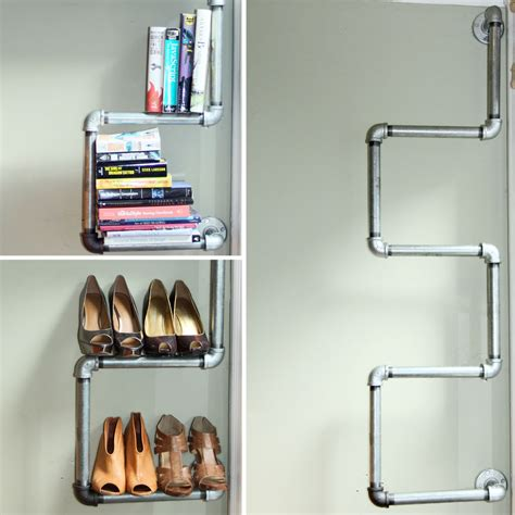 plumbing pipe shelves industrial pipe shelving think eat live