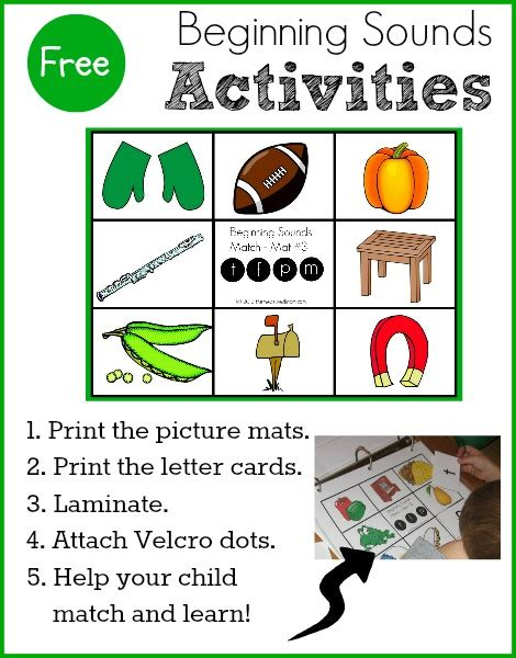 kindergarten themes beginning year free beginning sounds activity for preschool