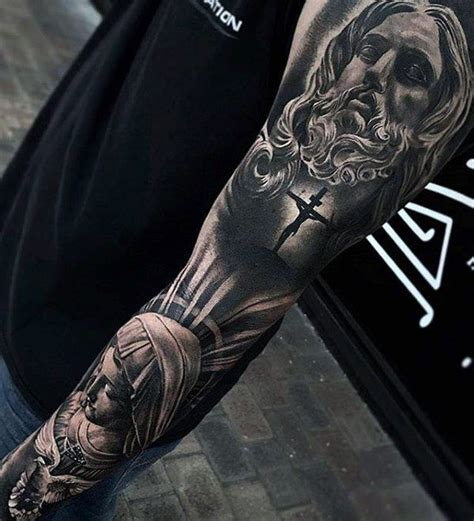 3d sleeve tattoo designs 60 3d jesus designs for religious ink ideas