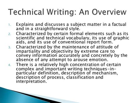 Technical Writer Description by Technical Writing