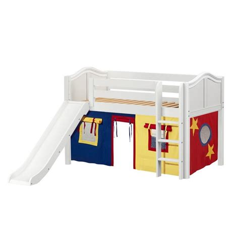 low loft bed with slide maxtrixkids pit29 wc low loft bed with straight ladder