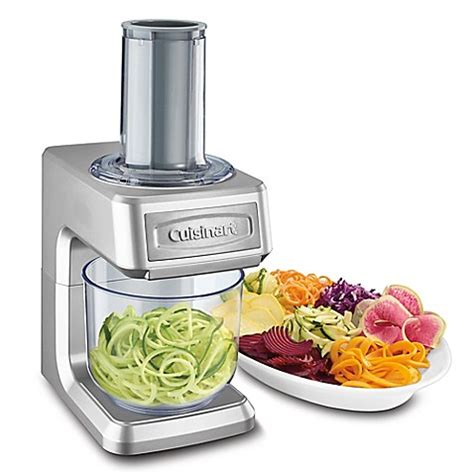 spiralizer bed bath and beyond buy cuisinart 174 pro slice shred spiralizer in silver from