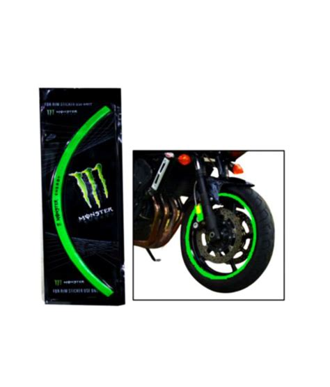 Monster Energy Sticker India by Monster Bike Scooter Reflecting Rim Sticker