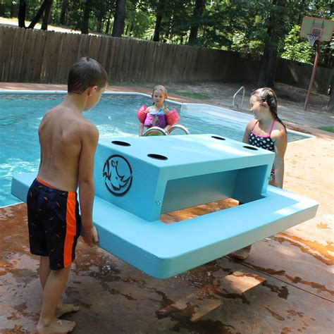 floating table for pool floating picnic table rhino building products inc
