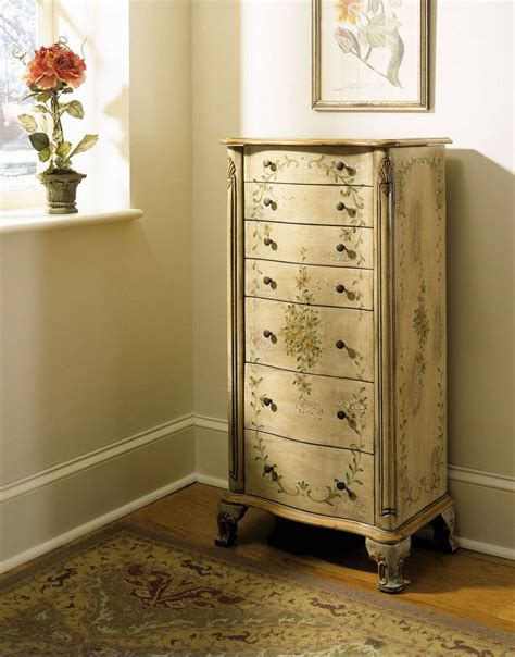 antique white jewelry armoire powell english garden antique white and sage jewelry