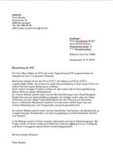 Schweiz Brief Beispiel Die Besten 17 Ideen Zu Bewerbungsschreiben Muster Auf Lebenslauf Bewerbung Muster