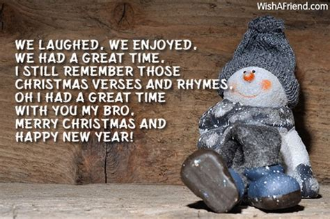 laughed  enjoyed   christmas message  brother