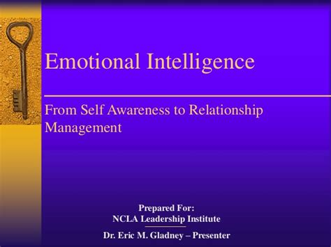 Emotional Self emotional intelligence from self awareness to relationship