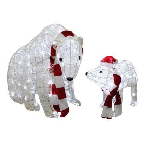 shop holiday living lighted polar bear freestanding