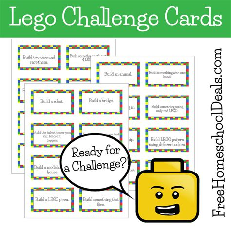 printable lego card free printable lego challenge cards lego challenge