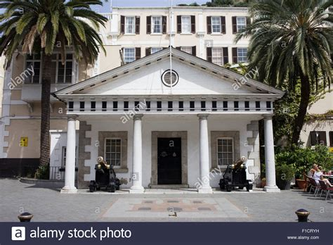 buy house in gibraltar convent guard house in gibraltar opposite the official residence of stock photo