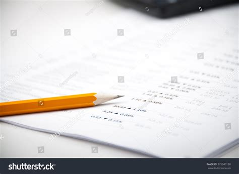 Finance Letter Stock Financial Analyzing Letter Witn Calculator Yellow Stock Photo 275040188