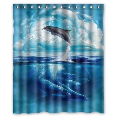 dolphin shower curtains dolphin shower curtains kritters in the mailbox animal gifts